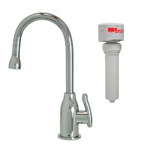 Francis Anthony Collection - Point-of-Use Drinking Faucet with Modern Curved Body & Handle & Mountain Pure® Water Filtration System - Polished Chrome Product Image