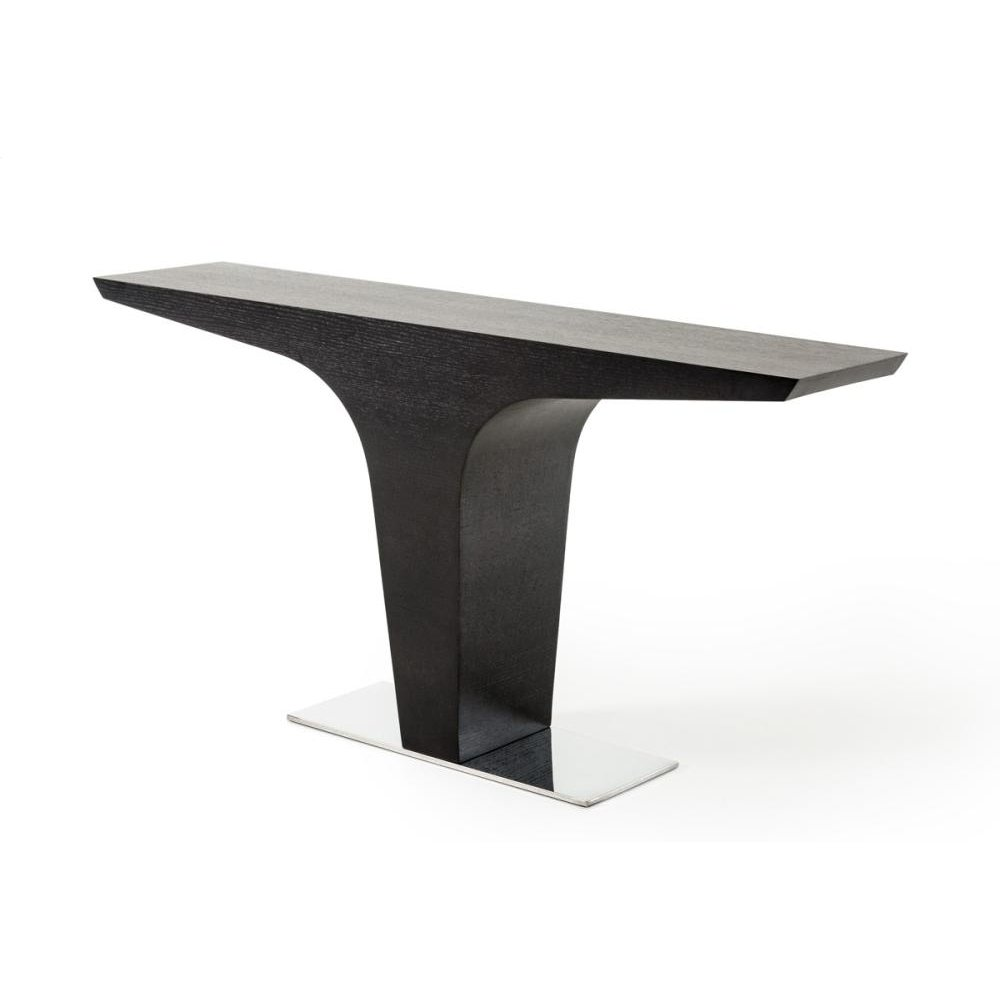 Modrest Bismarck Contemporary Wenge Console Table