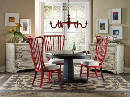 Sanctuary Round Aluminum Dining Table