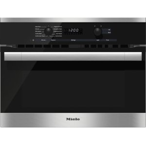 MieleH 6100 BM AM - 24 Inch Speed Oven With electronic clock/timer and combination modes for quick, perfect results.