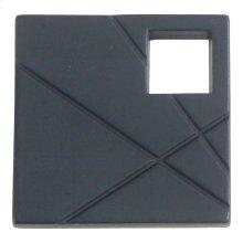 Modernist Left Square Knob 1 1/2 Inch - Matte Black