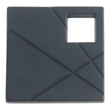 Modernist Left Square Knob 1 1/2 Inch - Matte Black