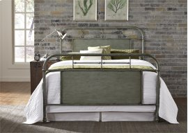King Metal Bed - Green