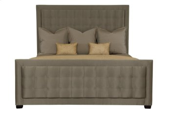 Queen-Sized Jet Set Upholstered Panel Bed in Jet Set Caviar (356) Product Image