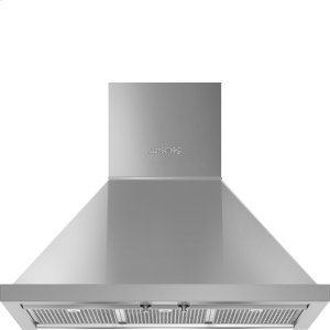 "Smeg30"" Portofino Chimney Hood, Stainless Steel"