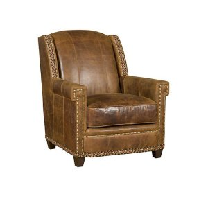 Mustang Leather/Fabric Chair, Mustang Leather/Fabric Ottoman