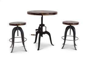 "Sparrow Round Crank Table 30"" x 30"" x 30""-41""H"