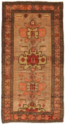 Antique Hand Knotted Medium Rectangle Rug