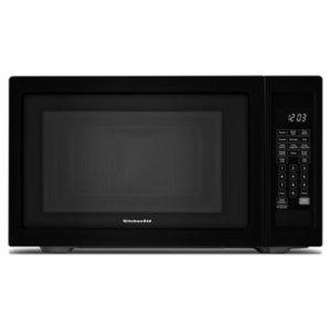 "KITCHENAID21 3/4"" Countertop Microwave Oven - 1200 Watt - Black"