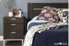 Nightstand Charging Station - Brown Oak Product Image