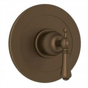 English Bronze Perrin & Rowe Georgian Era Integrated Volume Control Pressure Balance Trim Without Diverter with Georgian Era Solid Metal Lever