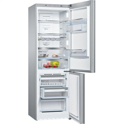 "800 Series 24"" Glass Door Counter-Depth Bottom Freezer B10CB80NVB 800 Series"