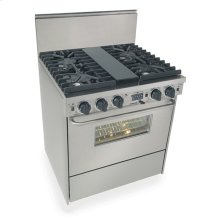 """30"""" Dual Fuel, Convect, Self Clean, Sealed Burners, Stainless Steel"""