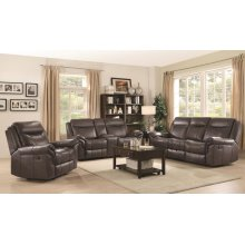 Sawyer Transitional Brown Three-piece Living Room Set