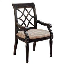 Fret Back Arm Chair