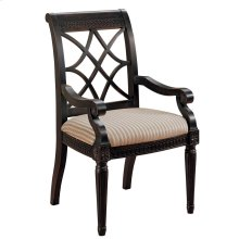 Fret Back Arm Chair