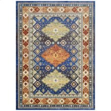 Atzi Distressed Southwestern Diamond Floral 4x6 Area Rug in Multicolored