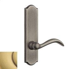 Satin Brass and Brown Rustic L028 Lever Screen Door