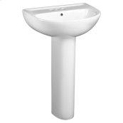 Evolution 22 Inch Pedestal Sink - White