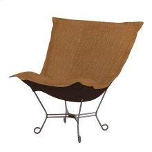 Scroll Puff Chair Coco Topaz Titanium Frame