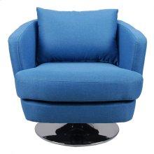 Penny Fabric Swivel Chair Blue