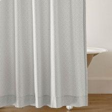 Diamond Lattice Shower Curtain, PEWTER, ONE