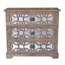 Bengal Manor Dark Mango Wood 3 Drawer Fretwork and Metal Chest