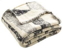 IMANI KNIT THROW - Dark Grey / Light Grey