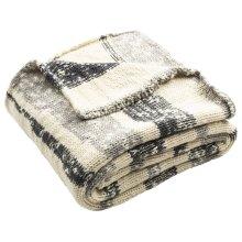 Imani Knit Throw - Dark Grey / Light Grey