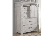 RED HOT - BE HAPPY ! Five Drawer Chest