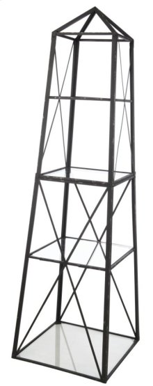 Square Etagere,Metal/Glass