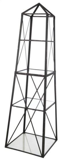 Square Etagere,Metal/Glass