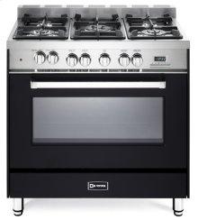 "Matte Black 36"" Dual Fuel Single Oven Range - 'N' Series"