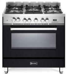"Matte Black 36"" Dual Fuel Single Oven Range - 'N' Series"