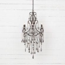 Charlotte 6 Light Chandelier-smoked
