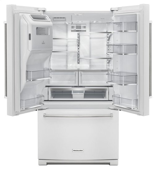 26.8 cu. ft. 36-Inch Width Standard Depth French Door Refrigerator with Exterior Ice and Water and PrintShield finish - White