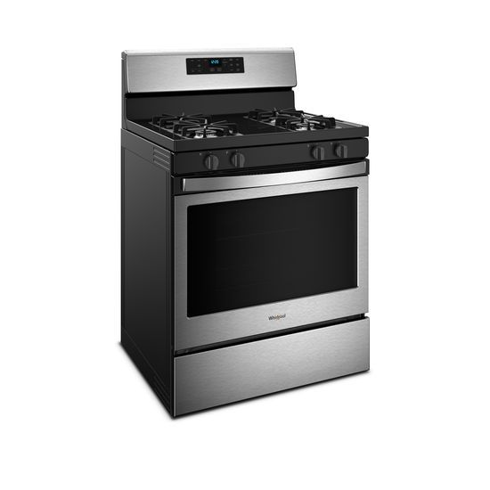 8d5e9b80f Freestanding Gas Range with Adjustable Self-Cleaning - Black-on-Stainless