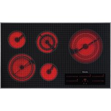 KM 5860 208V Electric cooktop with direct selection plus including timer for maximum user convenience.