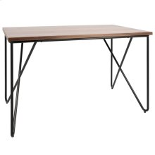 Loft Desk - Black Metal, Walnut Wood