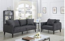 Asher Charcoal Sofa & 1.5 Chair, U5203