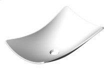 Rectangular washbasin in Corian® with smooth angles