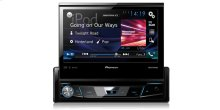 """1-DIN DVD Receiver with 7"""" Flip-out Display, Bluetooth®, Siri® Eyes Free, Spotify®, and AppRadio One™"""