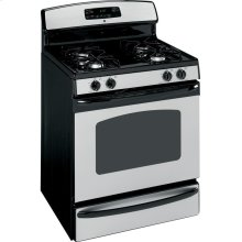 """GE® 30"""" Free-Standing Gas Range (This is a Stock Photo, actual unit (s) appearance may contain cosmetic blemishes. Please call store if you would like actual pictures). This unit carries our 6 month warranty, MANUFACTURER WARRANTY and REBATE NOT VALID with this item. ISI 33439"""