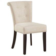Selma Side Chair in Beige, 2pk