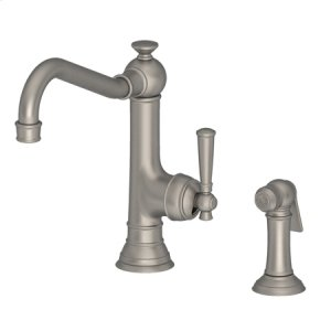 Antique Nickel Single Handle Kitchen Faucet with Side Spray
