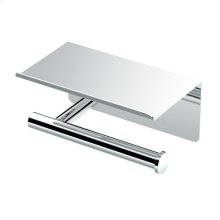Latitude2 Tissue Holder with Mobile Shelf in Chrome