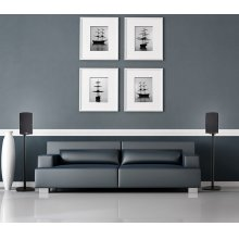 Six-piece 5.1 channel versatile and compact home theater speaker system