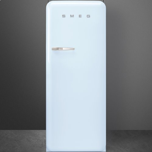 """Approx 24 """" 50'S Style Refrigerator with ice compartment, Pastel blue, Right hand hinge"""