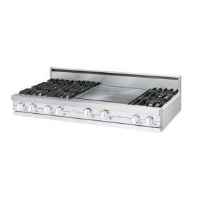 "White 60"" Open Burner Rangetop - VGRT (60"" wide, six burners 24"" griddle/simmer plate)"