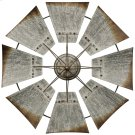 Vintage Windmill  An Iconic Farm Symbol in Galvanized Weathered Metal  Built in Hardware Product Image